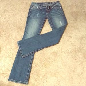 Miss Me boot cut jeans size 28.